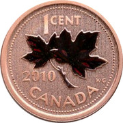Canada 1 Cent (Maple Leaf) KM# 490a 1 CENT 2007 CANADA KG coin reverse