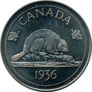 Canada 1 Crown Edward VIII Token 1936 UNC X# 3a CANADA 1936 coin reverse