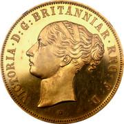 UK 1 Crown Royal Shield ND (1887) Proof VICTORIA D G BRITANNIAR REG F D coin obverse