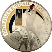 Australia 1 Dollar 150 Years of Australian Football 2008 AUSTRALIAN FOOTBALL 1858-2008 AUSTRALIAN FOOTBALL 150 YEARS P coin reverse