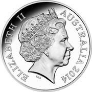 Australia 1 Dollar 30 Years of Mob of Roos 2014 Proof KM# 489d ELIZABETH II AUSTRALIA 2014 IRB coin obverse