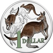 Australia 1 Dollar 30 Years of Mob of Roos 2014 Proof KM# 489d 1 DOLLAR coin reverse