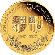 Australia 1 Dollar 70th Anniversary of the Royal Wedding 2017 P BU 70TH ANNIVERSARY ROYAL WEDDING 1947 - 2017 P coin reverse