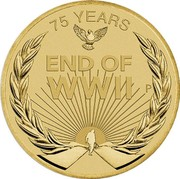 Australia 1 Dollar 75 Years Since the End of WWII 2020 P UNC in PNC 75 YEARS END OF WWII P coin reverse