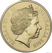 Australia 1 Dollar AFL Fans - Custodians Of The Game 2015 Proof in Capsule ELIZABETH II AUSTRALIA 2015 coin obverse