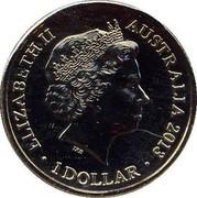 Australia 1 Dollar (AFL Premiers Cup) KM# 2151 ELIZABETH II AUSTRALIA 2013 IRB 1 DOLLAR coin obverse