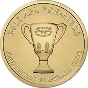 Australia 1 Dollar (AFL Premiers Cup) KM# 2151 2013 AFL PREMIERS HAWTHORN FOOTBALL CLUB coin reverse