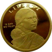USA 1 Dollar American Indians in the space program 2019 LIBERTY IN GOD WE TRUST coin obverse