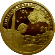 USA 1 Dollar American Indians in the space program 2019 UNITED STATES OF AMERICA $1 coin reverse