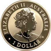 Australia 1 Dollar Australian Brumby 2020 UNC ELIZABETH II AUSTRALIA 1 DOLLAR coin obverse