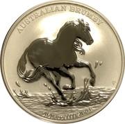 Australia 1 Dollar Australian Brumby 2020 UNC AUSTRALIAN BRUMBY 2020 1 OZ 9999 FINE SILVER coin reverse