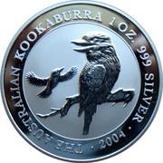 Australia 1 Dollar Australian Kookaburra 20th Anniversary 2009 UNC KM# 1291 THE AUSTRALIAN KOOKABURRA 1 OZ 999 SILVER 2009 coin reverse