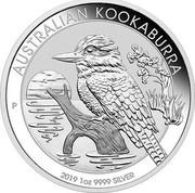 Australia 1 Dollar Australian Kookaburra High Relief 2019 AUSTRALIAN KOOKABURRA 2019 1OZ 9999 SILVER coin reverse