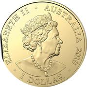 Australia 1 Dollar (Australia's Bushrangers) ELIZABETH II AUSTRALIA 2019 1 DOLLAR JC coin obverse