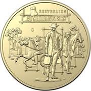 Australia 1 Dollar (Australia's Bushrangers) AUSTRALIAN BUSHRANGERS C AS coin reverse