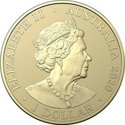 Australia 1 Dollar Donation Dollar 2020 ELIZABETH II AUSTRALIA 2020 1 DOLLAR coin obverse