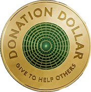 Australia 1 Dollar Donation Dollar 2020 DONATION DOLLAR GIVE TO HELP OTHERS coin reverse