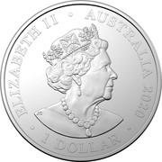 Australia 1 Dollar Emu in the Sky 2020 ELIZABETH II AUSTRALIA 1 DOLLAR coin obverse