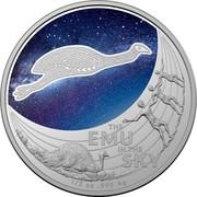Australia 1 Dollar Emu in the Sky 2020 THE EMU IN THE SKY 1/2 OZ 999 AG coin reverse