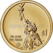 USA 1 Dollar (Gerber Variable Scale) $1 IN GOD WE TRUST PH JK coin obverse
