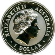 Australia 1 Dollar Kookaburra. Privy Mark June 2000 KM# 416.6 ELIZABETH II AUSTRALIA 1 DOLLAR IRB coin obverse