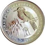 Australia 1 Dollar Kookaburra. Privy Mark June 2000 KM# 416.6 THE AUSTRALIAN KOOKABURRA 1 OZ 999 SILVER 2000 coin reverse