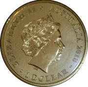 Australia 1 Dollar Lest We Forget - Red Poppy 2018 ELIZABETH II AUSTRALIA 2018 1 DOLLAR coin obverse
