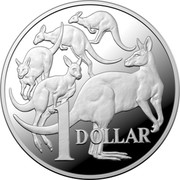 Australia 1 Dollar Mob of Roos 2020 Proof 1 DOLLAR coin reverse