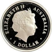 Australia 1 Dollar SAS 50th Anniversary 2007 Proof ELIZABETH II AUSTRALIA 1 DOLLAR coin obverse