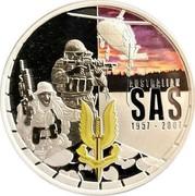 Australia 1 Dollar SAS 50th Anniversary 2007 Proof AUSTRALIAN SAS 1957 2007 WHO DARES WINS coin reverse