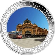 Australia 1 Dollar Sister Cities 2013 Proof SISTER CITIES 1 OZ 999 SILVER coin reverse