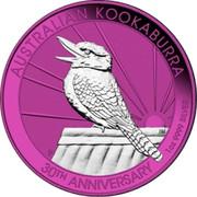 Australia 1 Dollar Space Pink Kookaburra 30th Anniversary 2020 AUSTRALIAN KOOKABURRA 30TH ANNIVERSARY 1 OZ 9999 SILVER coin reverse