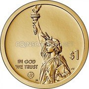 USA 1 Dollar (The Hubble Space - Telescope) $1 IN GOD WE TRUST PH JK coin obverse