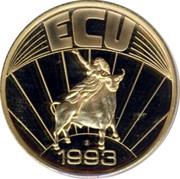 Greece 1 ECU 1993 UNC Euro Coinage ECU 1993 coin reverse