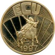 Greece 1 ECU 1997 UNC Euro Coinage ECU 1997 coin reverse