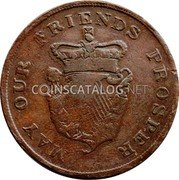 Ireland 1 Penny (Ireland Advocate) MAY OUR FRIENDS PROSPER coin reverse