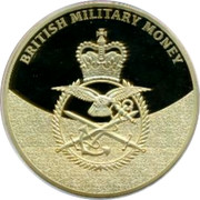 UK 1 Shilling British armed forces 2014 Proof BRITISH MILITARY MONEY coin obverse