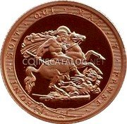 UK 1 Sovereign (200 years of the modern Sovereign. Piedfort) HONI·SOIT·QUI·MAL·Y·PENSE· BP coin reverse