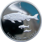 Slovenia 1 Tolar 10 years of Slovenian tolar 2006 Proof SALMO TRUTTA FARIO 1 coin reverse