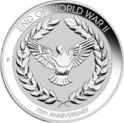 Australia 10 Cents 75th Anniversary of the end of WWII 2020 P UNC in Coincard END OF WORLD WAR II 75TH ANNIVERSARY coin reverse
