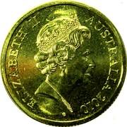 Australia 10 Cents Lyrebird Piedfort 2010 Proof ELIZABETH II AUSTRALIA 2010 VG coin obverse