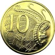Australia 10 Cents Lyrebird Piedfort 2010 Proof 10 SD coin reverse