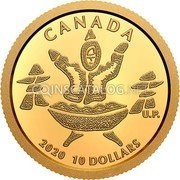Canada 10 Dollars (An Inuk and a Qulliq) CANADA 2020 10 DOLLARS coin reverse