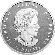 Canada 10 Dollars (Congratulations on Your Graduation) ELIZABETH II CANADA D G REGINA 10 DOLLARS coin obverse
