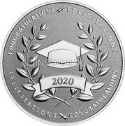 Canada 10 Dollars (Congratulations on Your Graduation) CONGRATULATIONS FELICITATIONS FELICITATIONS CONGRATULATIONS coin reverse