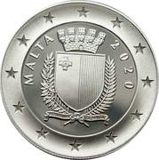 Malta 10 Euro 75th Anniversary End of World War II 2020 MALTA 2020 REPUBBLIKA TA' MALTA coin obverse