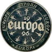 Ireland 10 Euro Europian Palace 1996 UNC EUROPE EUROPA EUROPE 999 EUROPA 1996 coin obverse