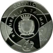 Malta 10 Euro L'Isle Adam graduals 2020 GOTHIC REPUBBLIKA TA' MALTA REPUBBLIKA TA' MALTA 2020 coin obverse