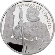UK 10 Pounds (Yeoman Warders) TOWER OF LONDON GD coin reverse