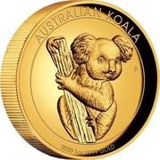 Australia 100 Dollars Australian Gold Koala 2020 AUSTRALIAN KOALA 2020 1 OZ 9999 GOLD coin reverse